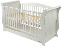 BabyStyle Hollie Cot Bed White FREE Deluxe Spring Mattress