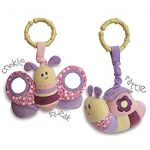 "Little Bird Told Me - Rattle and Squeak Set ""Butterfly and Snail"""
