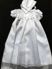 Kinder Christening Gown & Bonnet Long White 6-12 mths