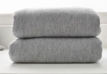 CLAIR DE LUNE Crib Fitted Sheets Grey