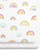 "SNUZ Crib Fitted Sheets ""Colour Rainbow"""